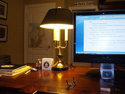 Click here to view photos of my writing space!