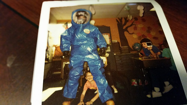 Back during my hazmat days, I was invited to my son's school to talk about my job. This was way before I'd published anything. That kid at my feet is my son, who's now 30 years old and a head taller than me.