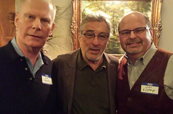 Twice a year, my buddy Dan Moldea hosts a party for Washington area writers. James Grady and I are regulars, but we were both surprised when Robert DeNiro showed up.