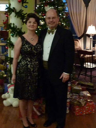 My lovely bride and me on our way to a Christmas celebration.